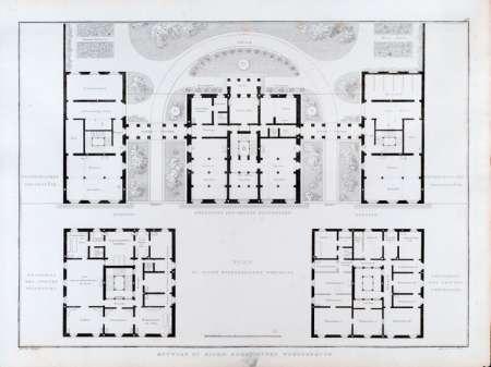 Nice Wissenschaftliches Bildarchiv Für Architektur   Sammlung Architektonischer  Entwürfe/Karl Friedrich Schinkel: Städisches Wohngebäude   Grundriß